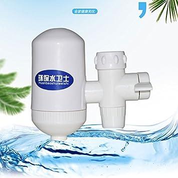 Seguro expendedora Suecia filtro purificador de agua filtro cerámico del filtro purificador de agua del grifo AA filtro de agua ionizador de agua alcalina elimina el 99% de contaminantes: Amazon.es: Bricolaje y