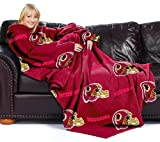 Washington Redskins Adult Comfy Throw Blanket with Sleeves