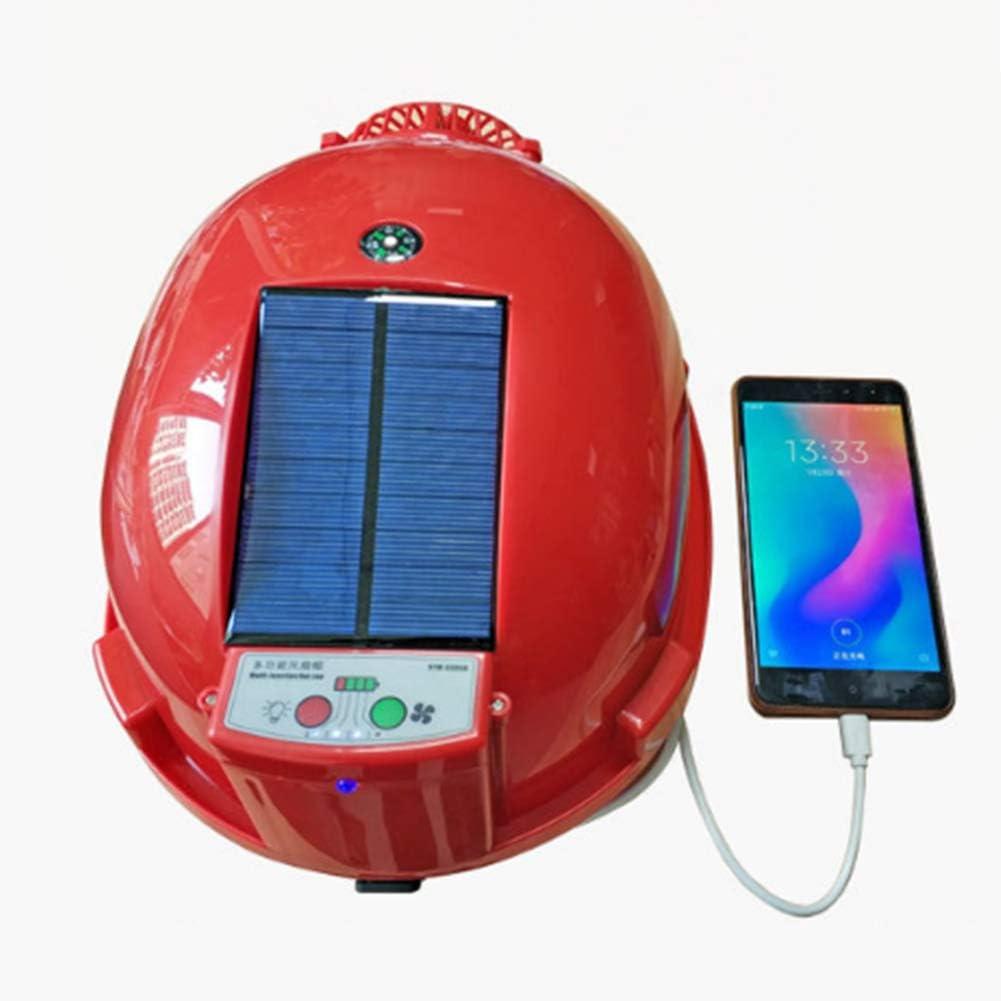 Joyfitness Carga de Verano del Ventilador Casco Solar del Ventilador Cap Ventilación de enfriamiento Departamento Anti-ácaros con Tapa Protectora Linterna de la energía móvil
