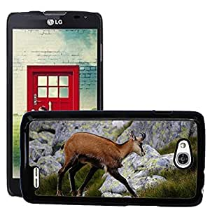 Just Phone Cases Etui Housse Coque de Protection Cover Rigide pour // M00127727 Chamois Tatra Montañas Altos Tatras // LG Optimus L90 D415