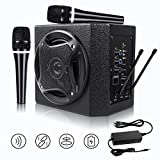 TONOR PA System Karaoke Machine with 50W Bluetooth Powered Speaker Wireless Microphones Handheld for Family Party, Indoor Meeting, Classroom Use, Public Speaking and Small Stage Performance