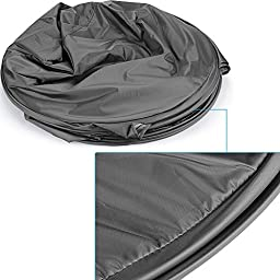 Neewer® 6 Feet/183cm Collapsible Indoor Outdoor Camping Photo Studio Pop Up Changing Dressing Tent Fitting Room with Carrying Case(Black/White)