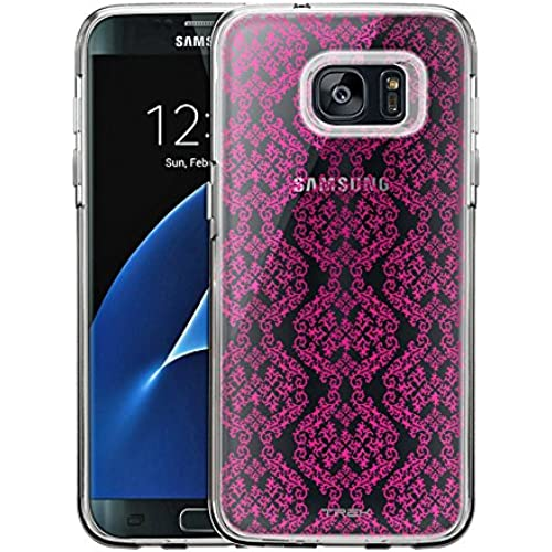 Samsung Galaxy S7 Edge Case, Slim Fit Snap On Cover by Trek Victorian Stunning Pink Clear Case Sales