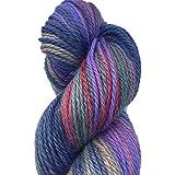 Hand Dyed Baby Alpaca Yarn, Hand Painted: Gemstone, Dk Weight, 80 Grams, 200 Yards, 100% Baby Alpaca
