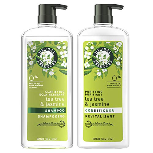 Herbal Essences, Clarifying Shampoo & Purifying Conditioner, Tea Tree & Jasmine, 20.2 Fl Oz Bundle