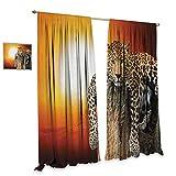 Best Avon Cat Trees - homefeel Safari Blackout Window Curtain Leopard Sitting on Review