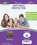 Waterproof Mattress Protector - Mattressentials Queen Size Waterproof Mattress Protector - Fitted Sheet Style - Hypoallergenic Cover Protects Against Dust Mites, Allergens, Vinyl-Free Breathable Noiseless Deep Pocket