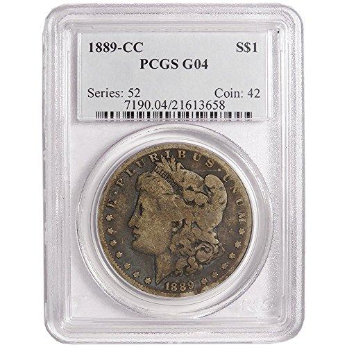 1889 CC $1 Morgan Silver Dollar $1 G4 PCGS (1889 Morgan Dollar Silver Coin)