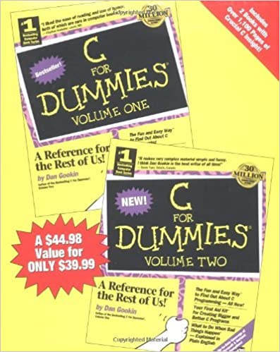 C For Dummies?? (2 Volume Set) by Dan Gookin (1997-05-08)