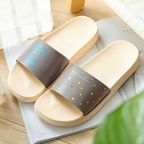 Men Anti men Shower Women Bottom Beach Couple Bathroom Summer Slip Slippers Soft beige Thick TELLW Cool d8v6qd