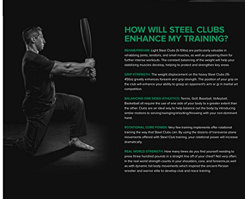 Onnit Steel Clubs | Build Grip Strength, Shoulder Mobility, and Rotational Core Power
