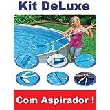 Kit Limpeza Piscina Intex DeLuxe + Bomba Filtrante 3785 LH 220v
