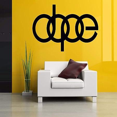 zqyjhkou Dope Word Sign Wall Room Decor Vinilo Extraíble Art ...