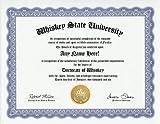 Whiskey Lover Degree: Custom Gag Diploma Doctorate Certificate (Funny Customized Joke Gift - Novelty Item)