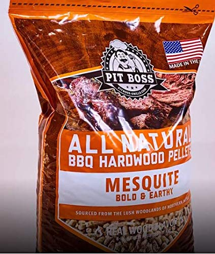 All Natural Mesquite Barbecue Hardwood Pellets Bold and Earthy, 20 lbs, Resealable Bag