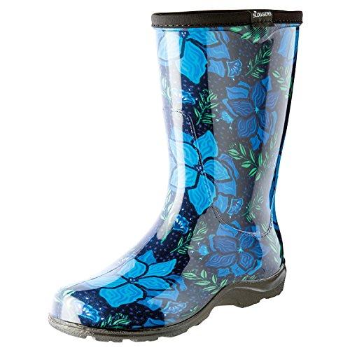 Sloggers 5018SSBL08 5018SSBK06 Spring Surprise Waterproof Boot, 6, Black (Waterproof Garden Sloggers)