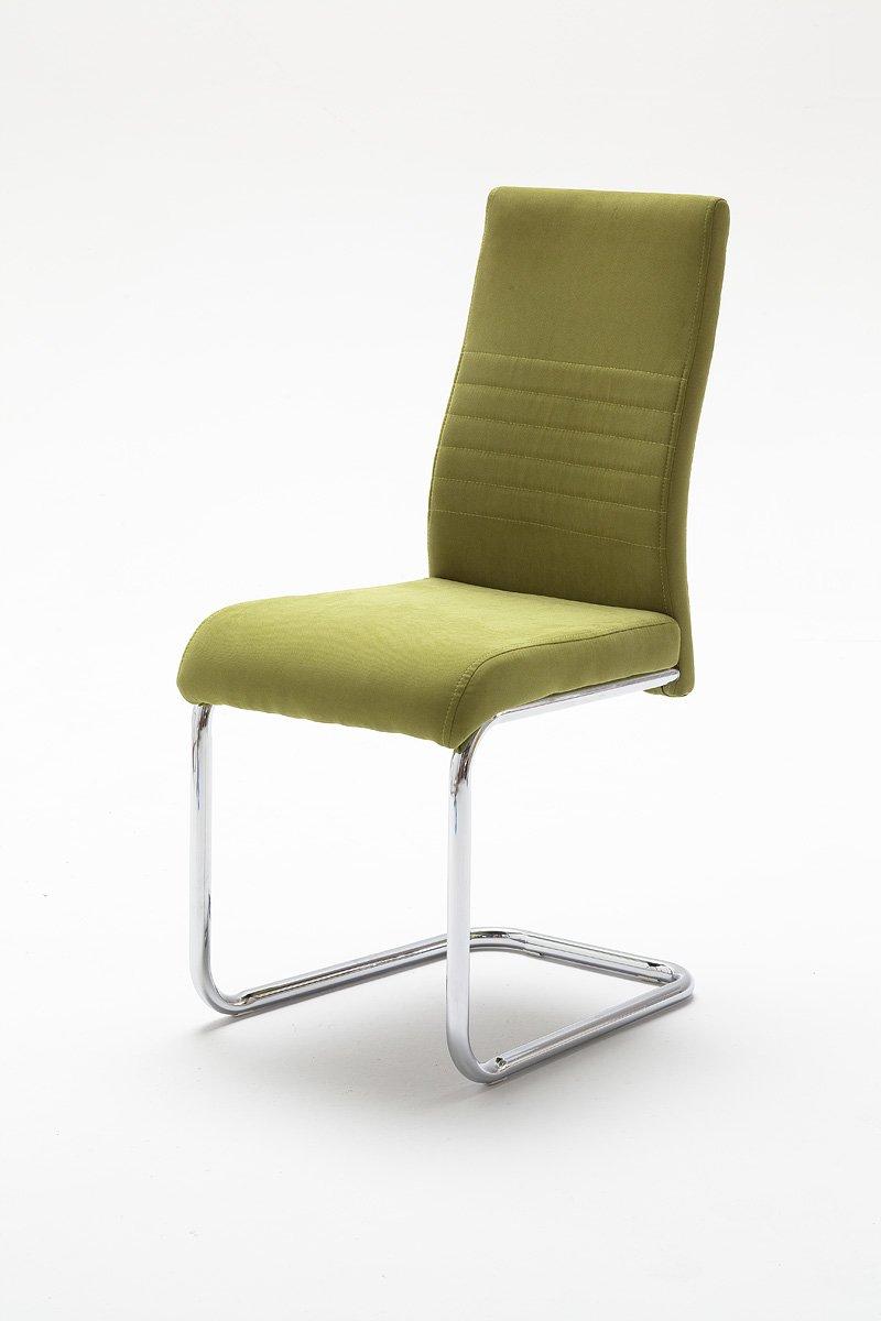 4 Stühle, Schwinger, Schwingstuhl, Schwinger, Freischwinger, grün ...