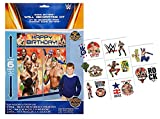 WWE World Wrestling Entertainment Giant Scene Setter Photo Booth Backdrop Decorating Kit! Plus WWE Kids Tattoos!