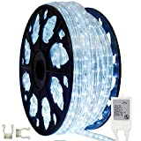 145ft Outdoor Rated Chasing LED Rope Light Kit - 120V (Cool White)