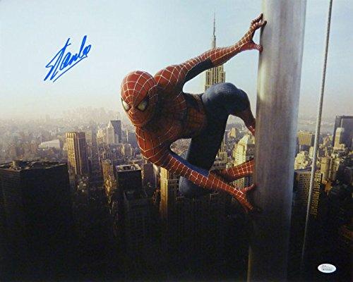 Stan Lee Autographed Spider Man on pole 16x20 Photo w/JSA
