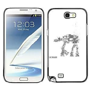 LECELL--Funda protectora / Cubierta / Piel For Samsung Note 2 N7100 -- AT AT Walker --