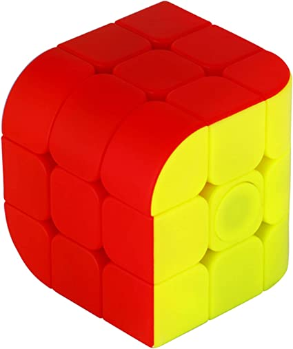 Krireen High Stability 3X3 Kids Playing Curve Speed Cube, Magic Puzzle Cube for Adult (Multicolor)