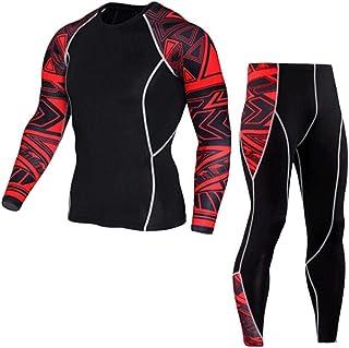 Firally Tute Sportive Uomo,Uomo Allenamento Leggings Fitness Sport Palestra Running Yoga Pantaloni Sportivi + Tuta, Casuale Classic Moda Pantaloni Sportivi