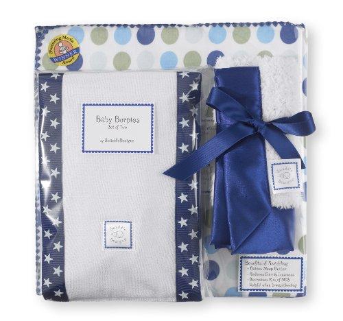 SwaddleDesigns Dots & Stars Navy - Baby Gift Set