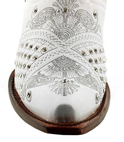 Cowboy Professionale Da Donna Marrone Marfil Strass Da Sposa Stivali Da Cowboy Snip Bianco