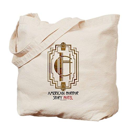 CafePress American Horror Story Hotel Icon Natural Canvas Tote Bag, Cloth Shopping Bag