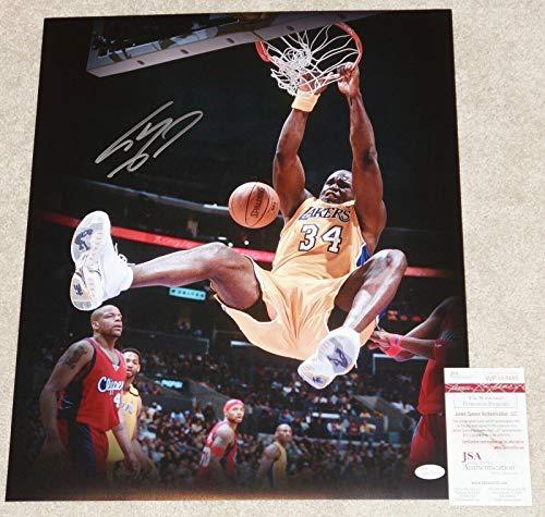Autographed O'Neal Photo - SHAQ O'NEAL 16x20 + COA WP659495 BLOWOUT SALE - JSA Certified - Autographed NBA Photos