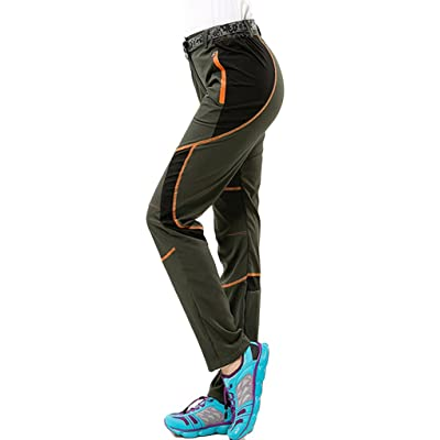Asherbaby Women's Outdoor Fitness Waterproof Lightweight Quick Dry Hiking Pants