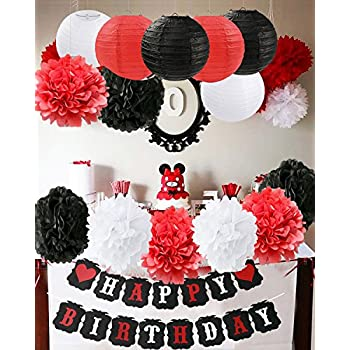 Amazoncom Ladybug Birthday Party Decoration Black White Red Tissue