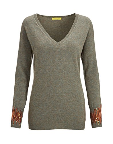 Witty KNITTERS sejal V Neck olivo WK307