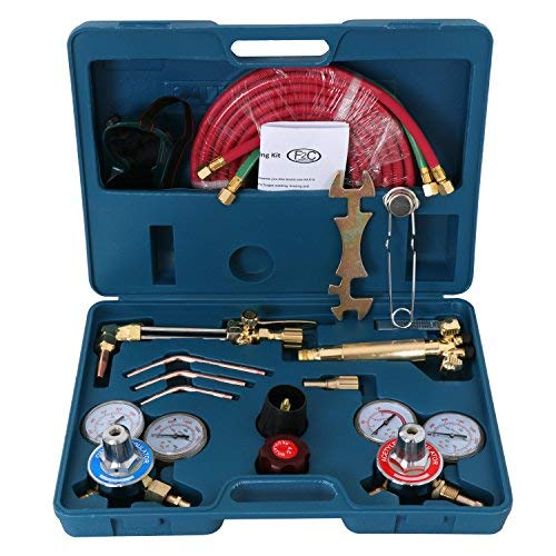Metal Cutting Torch - ZENY NEW Portable Gas Welding Cutting Torch Kit w/Hose, Oxy Acetylene Brazing Professional Set with Goggles & Case
