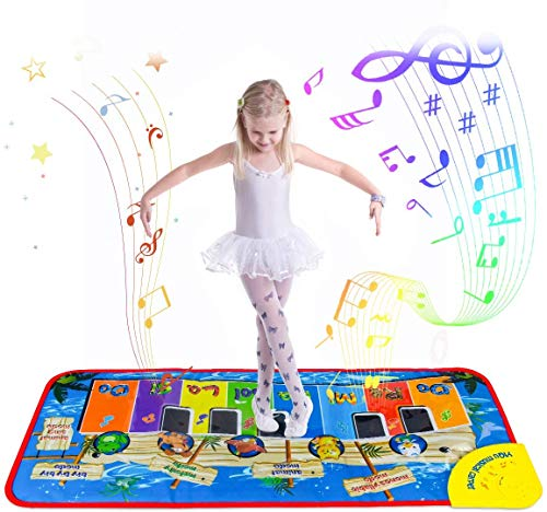 Gagotoy Piano Dance Mat Toys for 2 Year Old Girls Toddlers,Education Toys Games for 3 4 5 6 7 Year Old Boys Kids Touch Musical Instrument Playmat Best Birthday Xmas for Babies