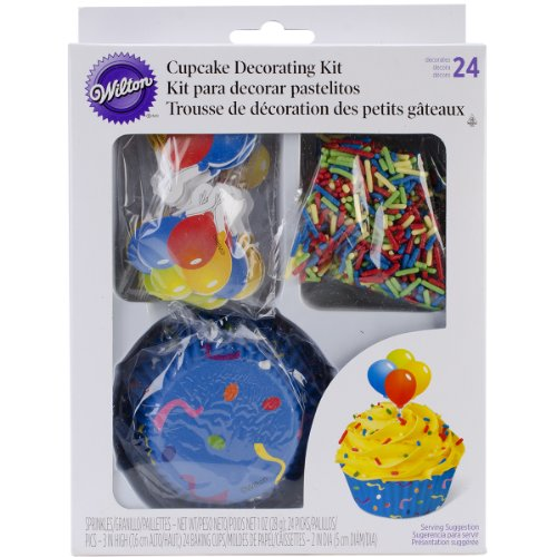 Wilton 415-8044 Celebration Cupcake Decorating Kit