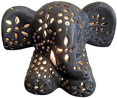 Child's Nursery Lamp/Night Light - Grey Elephant
