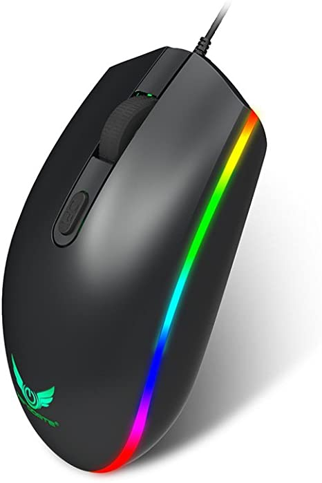 6Buttons 3200 DPI LED Optical USB Wired Cord Gaming PRO Mouse Mice For.PC EC