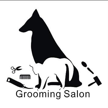 mmwin Aseo Salón Pegatinas De Pared Decoración Creatividad Vinilo Arte Tatuajes De Pared Perros Gatos Pet Shop Decoración De Pared 59X62 Cm: Amazon.es: ...