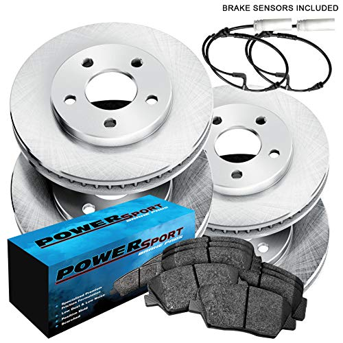 Fit 2007-2010 Mini Cooper Front Rear Sport Blank Brake Rotors+Ceramic Brake Pads