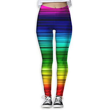 Fri Rainbow colorful Heat Compression Pants Yoga Pants Gym Tights For Women  Youth Reflective 47ffee46f
