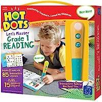 Educational Insights 2392 Hot Dots Jr. Let's Master Grade 1 Reading Set with Hot Dots Pen
