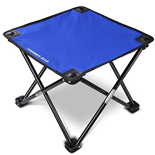 Forbidden Road Camping Stool Seat Tripod Stool Portable Folding Hiking Fishing Travel Backpacking Outdoor Stool 0.9lbs Lightweight Capacity 220lbs - Red Blue Green (Blue, 13.7713.7711.8)