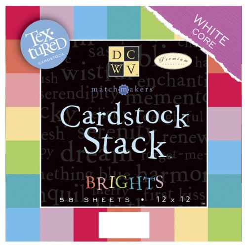 Textured Brights Cardstock Stack - Match Makers Textured Brights Cardstock Stack 12