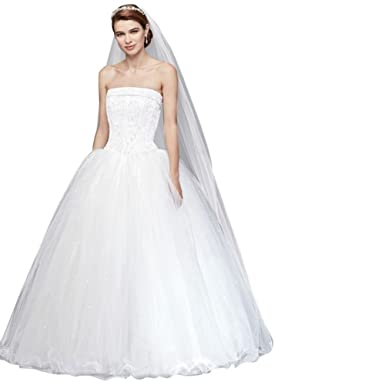 9c75e7bda5f4 Tulle Ball Gown with Beaded Bodice and Corset Back Style NT8017 at Amazon  Women's Clothing store: