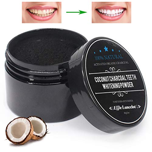 Activated Charcoal Teeth Whitening Powder- 100% Natural Organic Tooth Whitener Powder for Stains, Tartar, Yellow Teeth and Bad Breath- Safe for Enamel, Sensitive Teeth-(60g, 0.2OZ) -