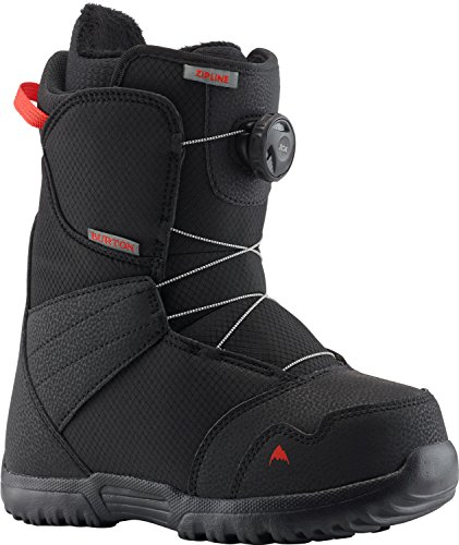 Ride Kids Snowboard Boots - Burton Zipline BOA Snowboard Boots Kid's Sz 6 Black