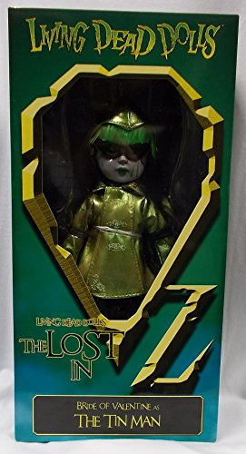 Living Dead Dolls - The Lost In OZ Exclusive Emerald City Variant - Bride of Valentine as The Tin Man Variant - Exclusive Living Dead Dolls