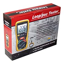 Ruby Electronics DT-5301 Digital LCD Earth Loop Impedance and Prospective Short Circuit (PSC) Tester for European Power Circuit